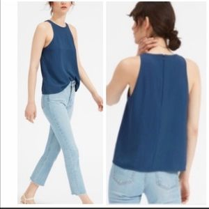 Everlane Blue Japanese Goweave High Tank RTM